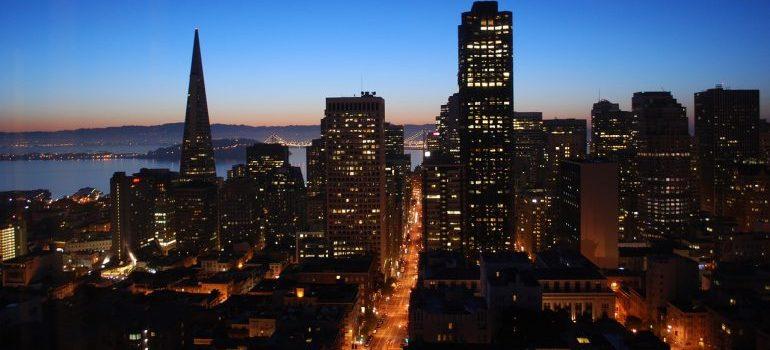 San Francisco during dawn.