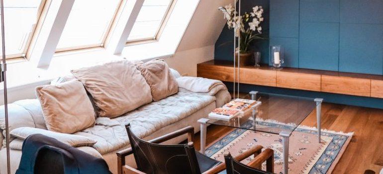 a cozy penthouse room