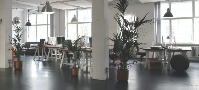 a large office