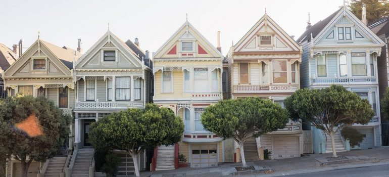 The painted ladies in San Francisco.